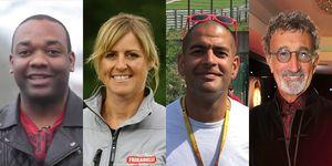 Top Gear: Rory Reid, Sabine Schmitz, Chris Harris and Eddie Jordan