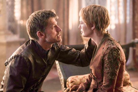 Nikolaj Coster-Waldau as Jaime Lannister and Lena Headey as Cersei Lannister in Game of Thrones season 6