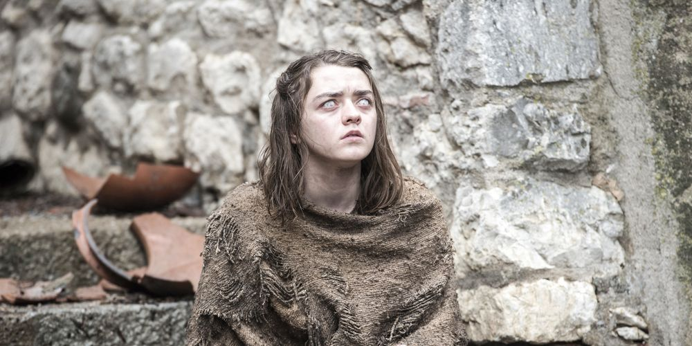 Maisie Williams as Arya Stark in Game of Thrones Season 6