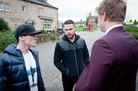 Aaron sees Robert talking to Ryan