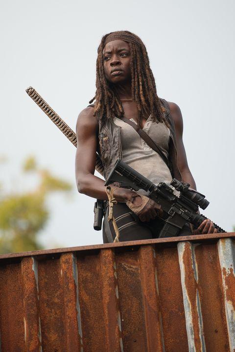 Danai Gurira as Michonne in  The Walking Dead S06E10: 'The Next World'