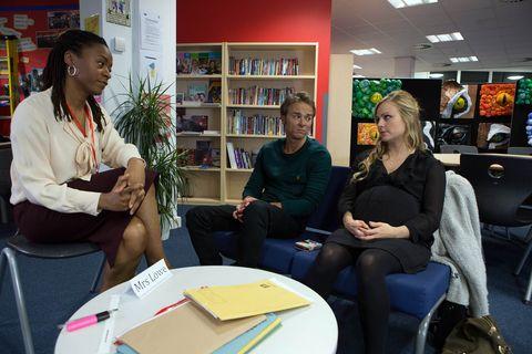 Sarah and David meet with Bethany's teacher