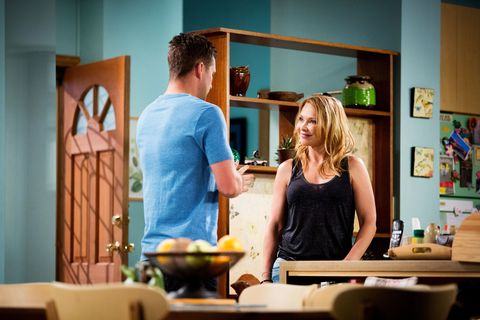 When Mark finds out what happened with Paul, he goes to see if Steph is okay.