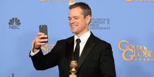 Matt Damon at the Golden Globes 2016