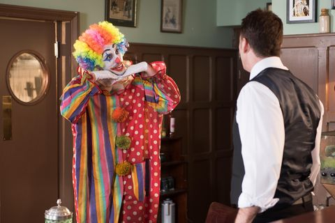 ​Scott tells Tony he's going to be a children's entertainer.