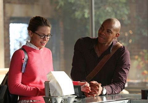 Melissa Benoist and Mehcad Brooks in Supergirl
