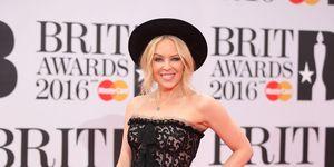 Kylie Minogue Brit Awards 2016 red carpet