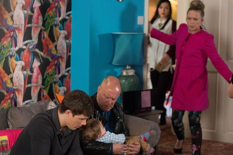 A panicked Linda rushes in to see if Ollie is okay. 
