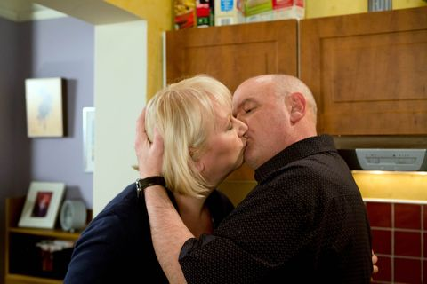 Eileen and Phelan kiss