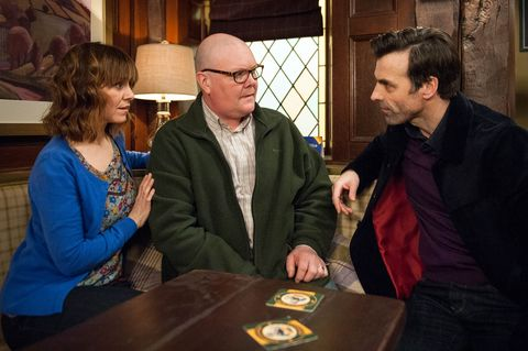 Rhona and Paddy are shocked when Pierce turns up