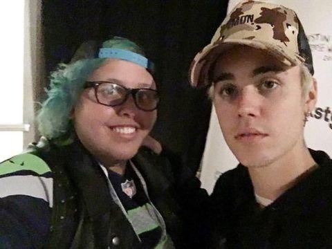 Justin Bieber meet and greet