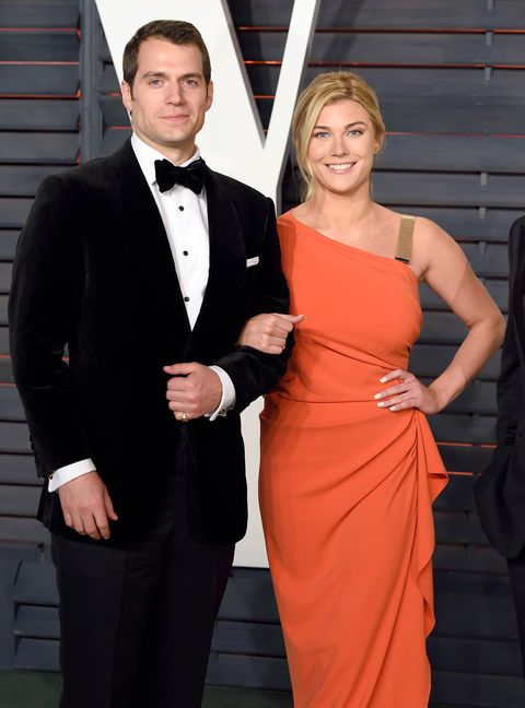 Henry Cavill and Tara King attend the 2016 Vanity Fair Oscar Party
