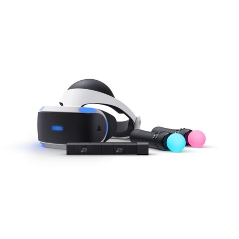 PlayStation VR headset, controllers