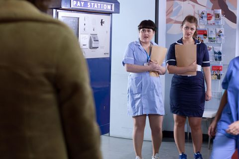 At the hospital, Celine and Tegan meet a patient called Liam.