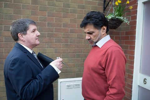 Sharif is shocked when an Environmental Health Officer calls round