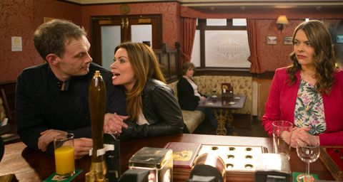 Tracy is furious to see Carla and Nick looking happy