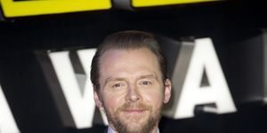 Simon Pegg attends the European premiere of Star Wars: The Force Awakens