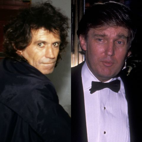 The Rolling Stones' Keith Richards once threatened Donald