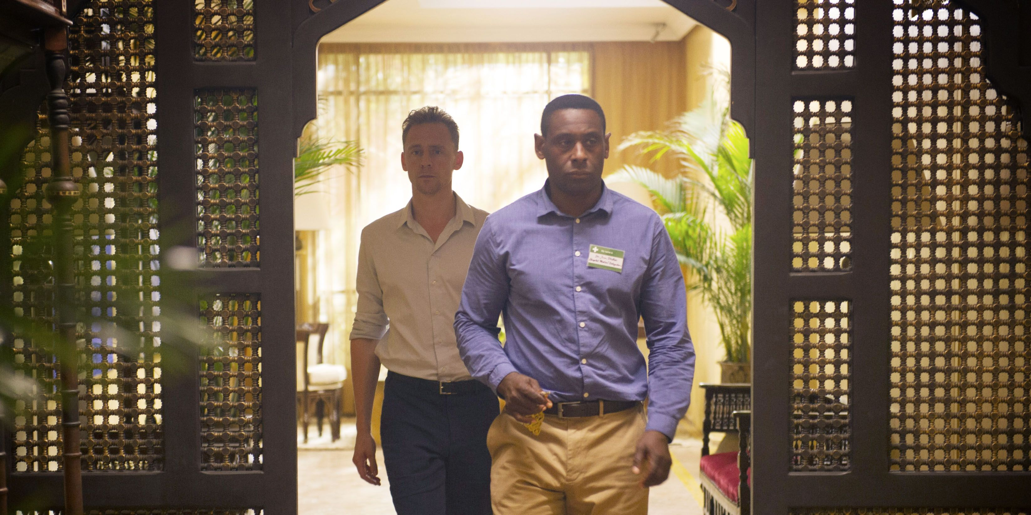 David Harewood and Tom Hiddleston in The Night Manager finale (episode 6)