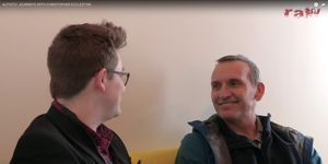 Christopher Eccleston meets autistic Doctor Who fan Gerard Groves