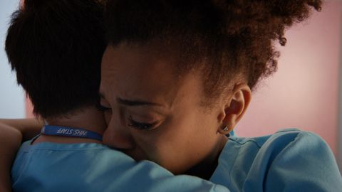 Arthur Digby and Morven Shreve in Holby City
