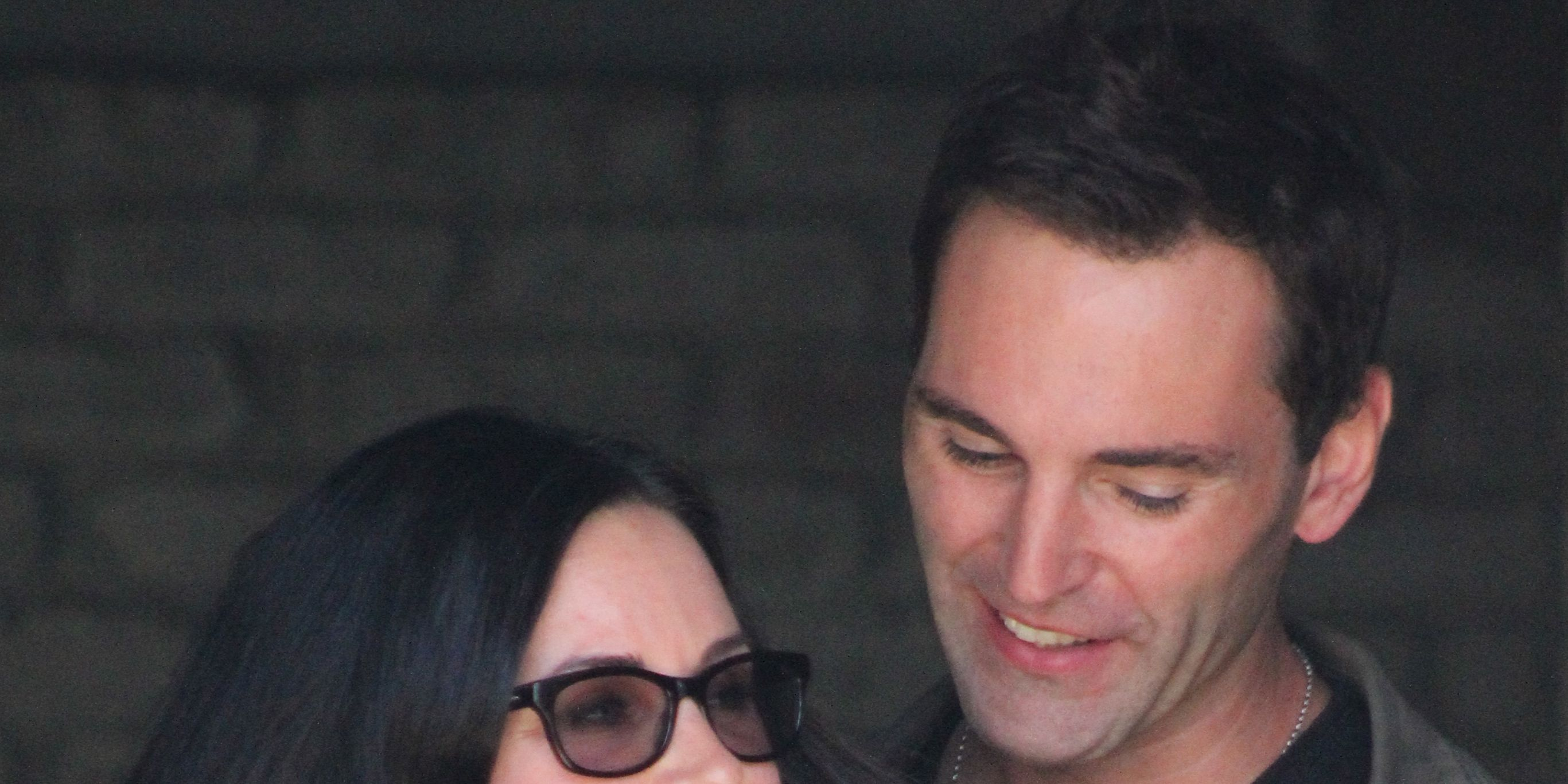 Courtney Cox and Johnny McDaid attend a Memorial Day a event in Malibu