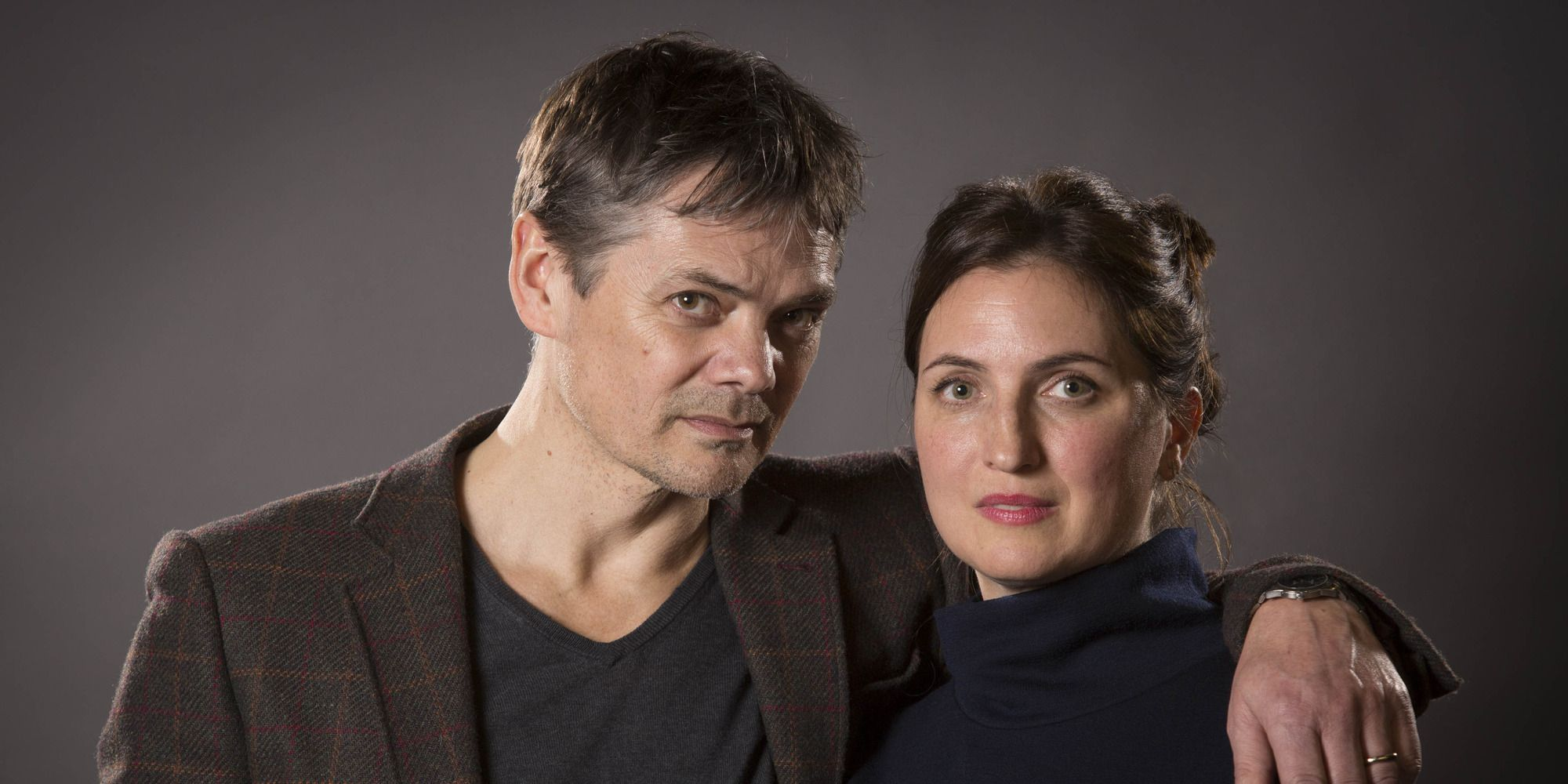 Timothy Watson as Rob Titchener and Louiza Patikas as Helen Archer in The Archers