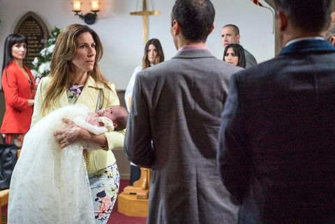 Megan feels pressured into letting Jai attend the christening