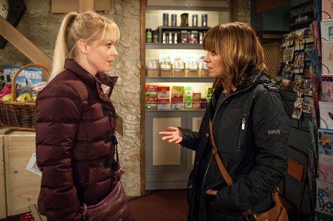 Rhona admits to Vanessa that she's struggling