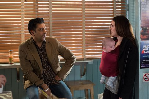 Stacey has an awkward run in with Masood