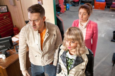 <p>Nancy agrees to help Darren find out who overheard his conversation with Maxine. </p>