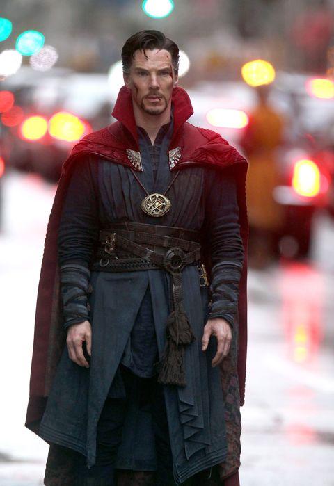 benedict cumberbatch filming marvel's doctor strange in new york city