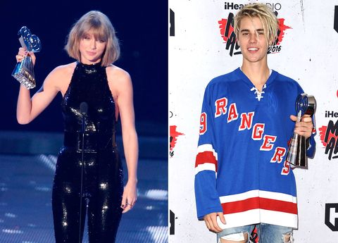 Taylor Swift and Justin Bieber win big at the iHeart Radio