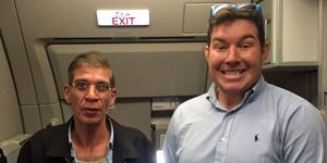 Ben Innes hijacking selfie