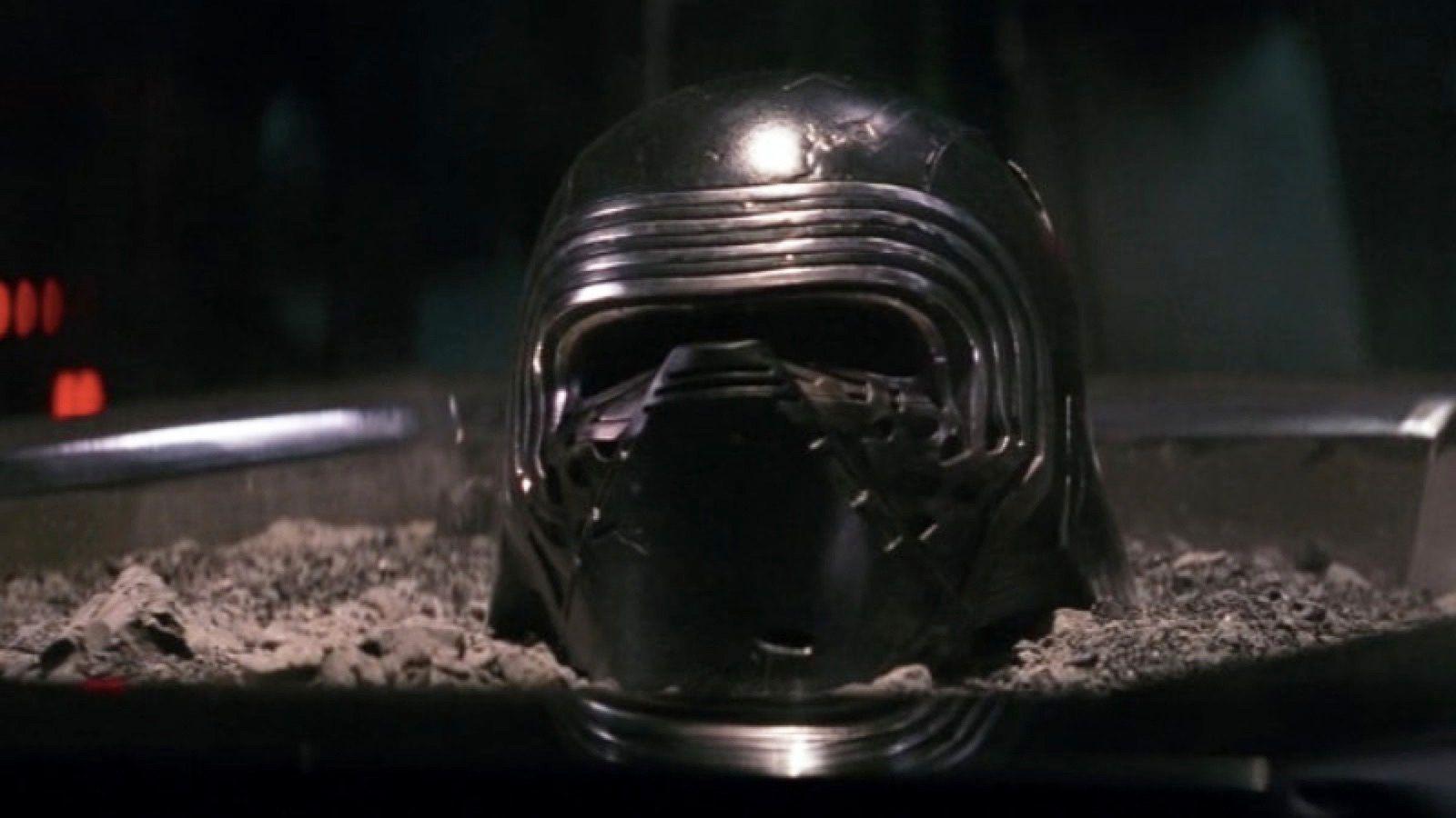 Star Wars Reveals Darker Look At Kylo Ren S Repaired Helmet