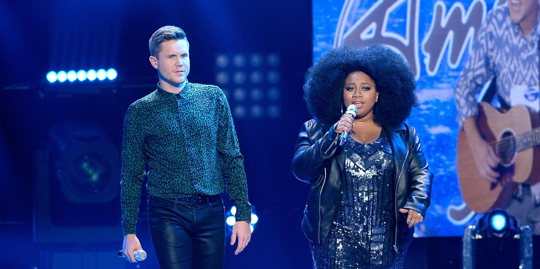 La'Porsha Renae and Trent Harmon at American Idol finale