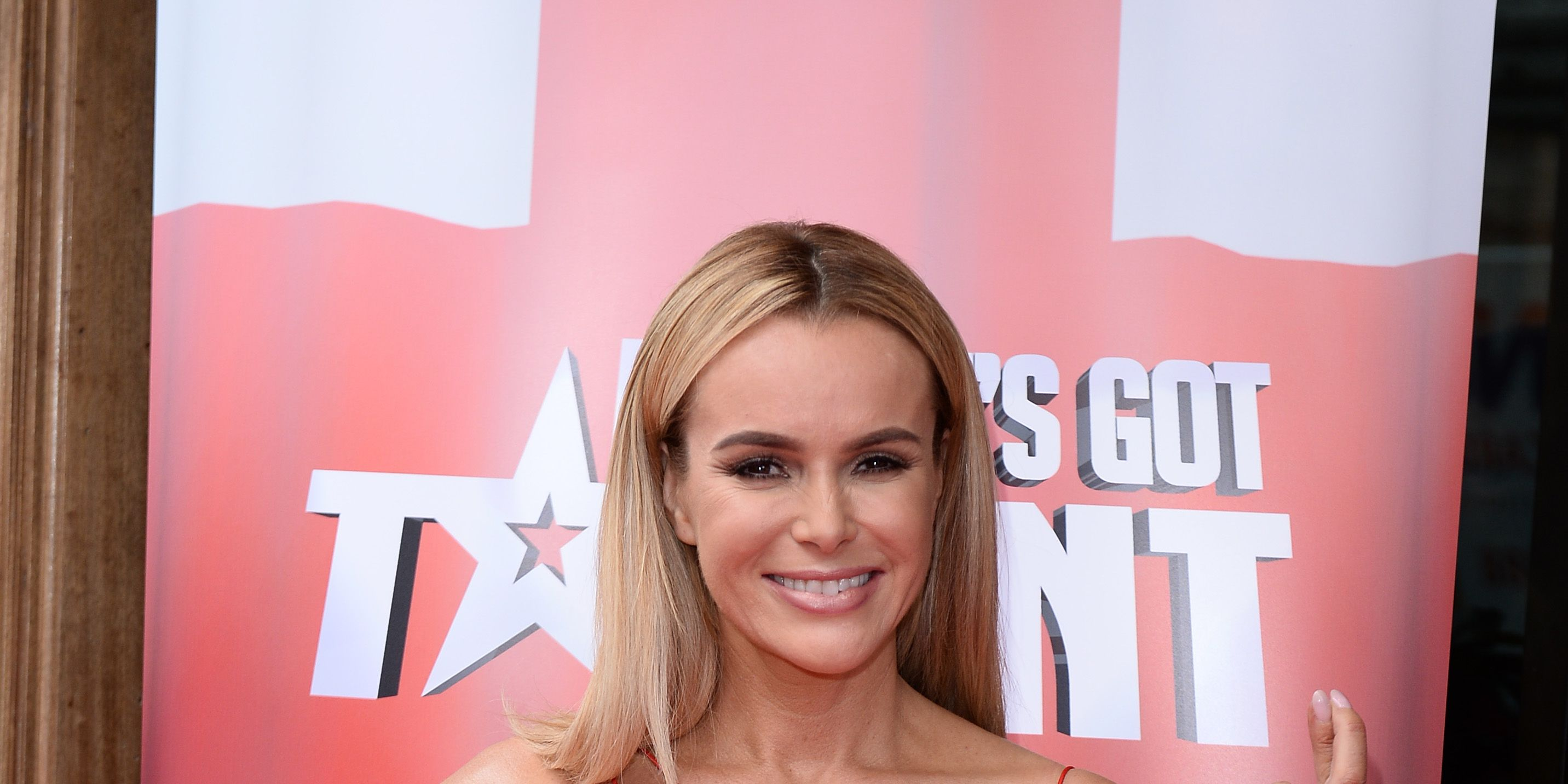 Amanda Holden arrives for the launch of Britain's Got Talent