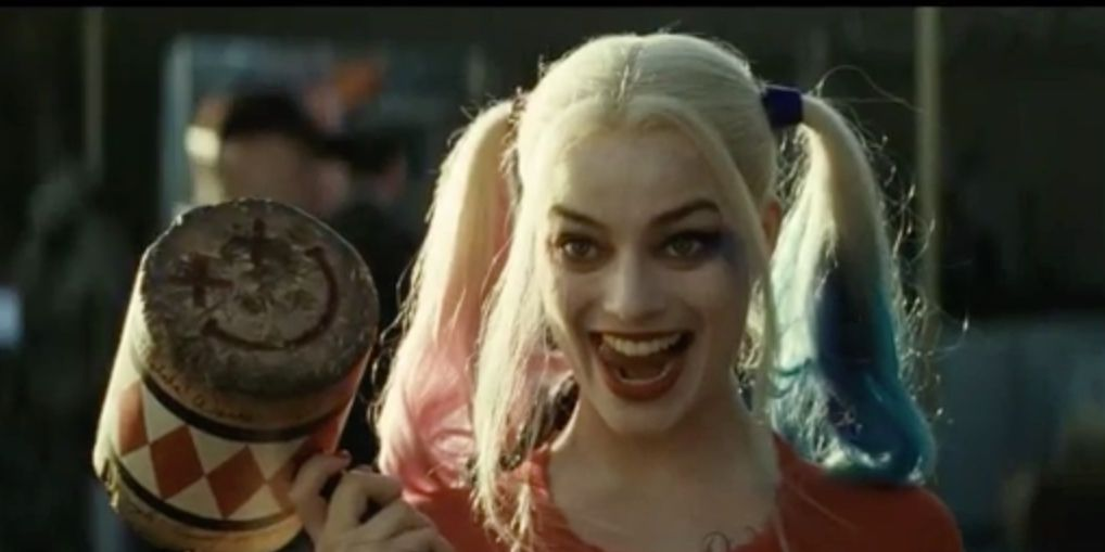 Margot Robbie as Harley Quinn in Suicide Squad trailer