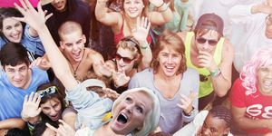 PHOTOSHOP Mary Berry crowdsurfing at a festival