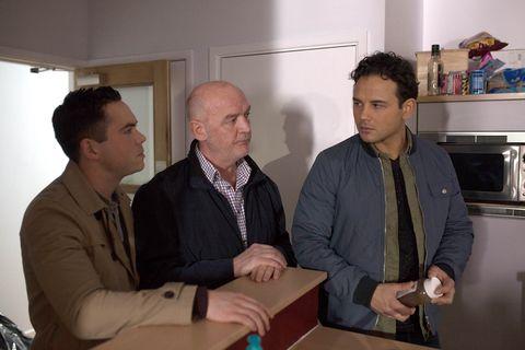 Jason, Todd and Phelan tidy Tony's flat