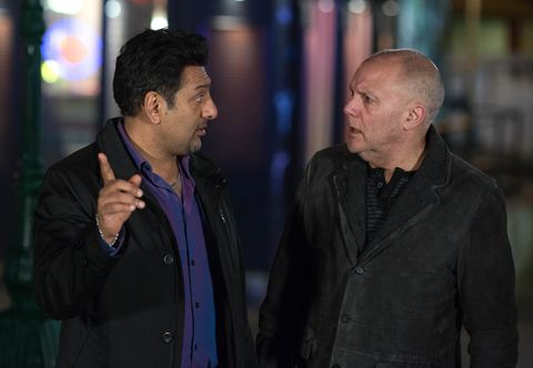 Masood tells Buster about Ian's plans to sell.