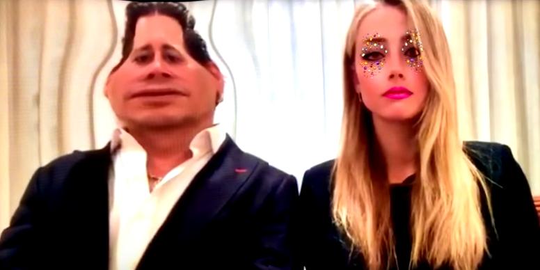 Johnny Depp and Amber Heard snapchat filter
