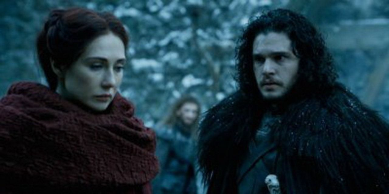 Melisandre and Jon Snow Game of Thrones