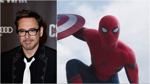 Robert Downey Jr and Spider-Man