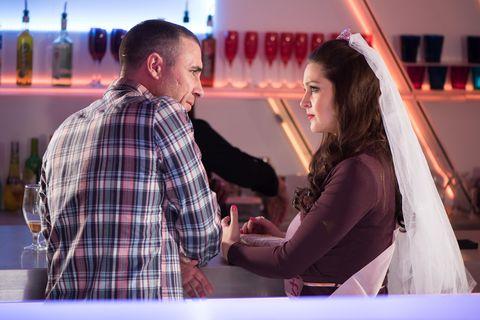 Sienna confronts Trevor at her hen party.