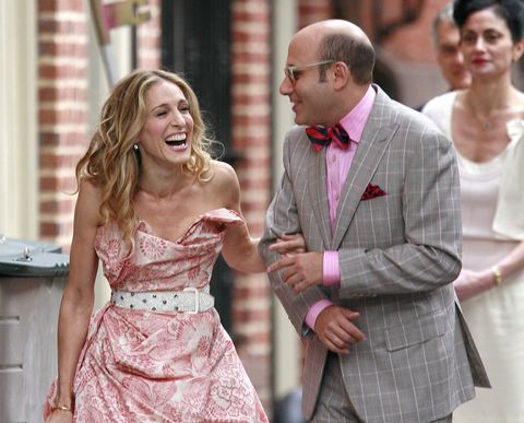 carrie bradshaw stanford blatch sex and the city sarah jessica parker willie garson on set