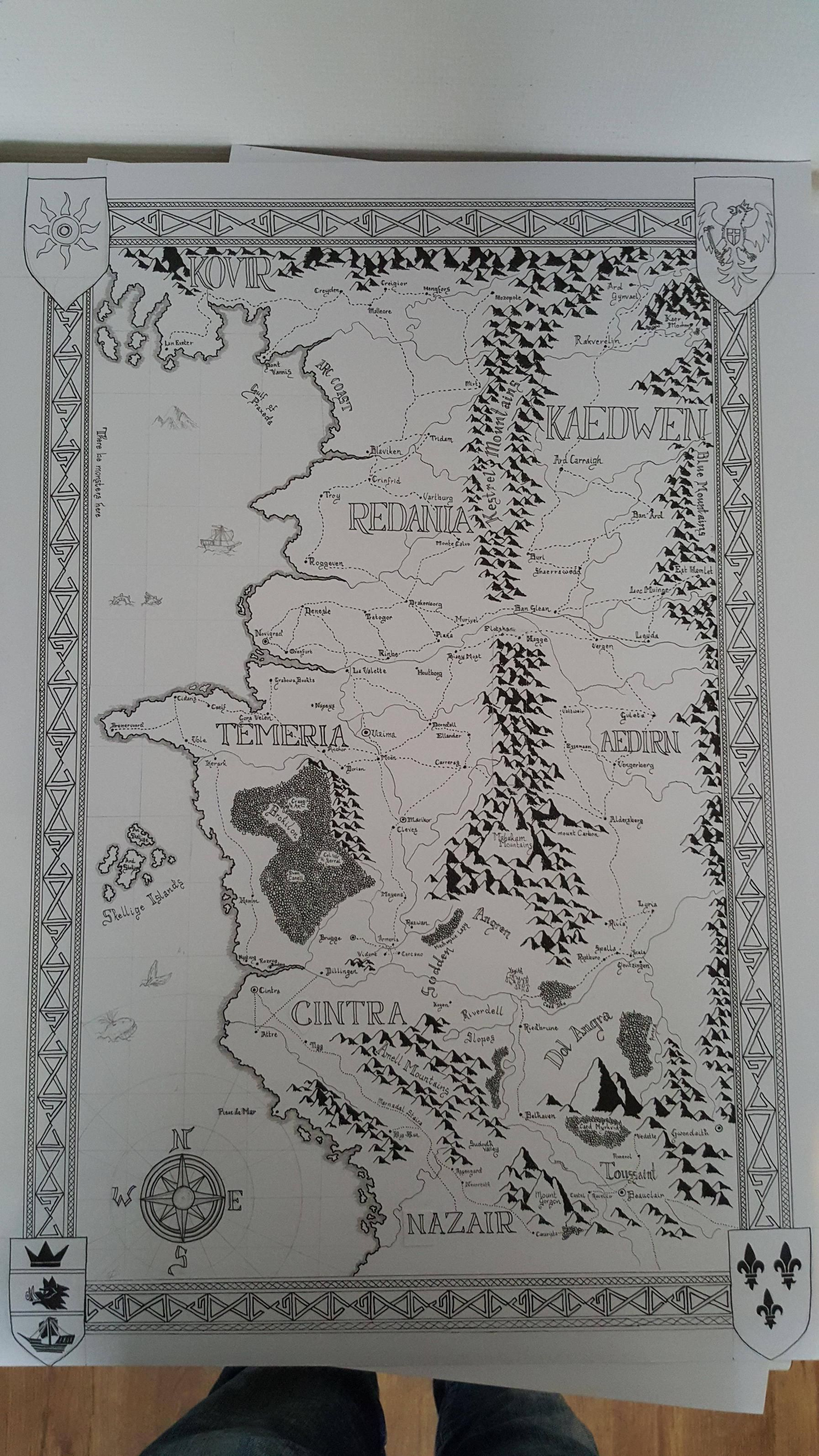 Here\'s what The Witcher 3 map would look like with a Tolkien makeover