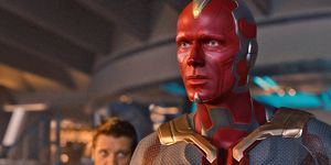 Paul Bettany as the Vision in Avengers: Age of Ultron