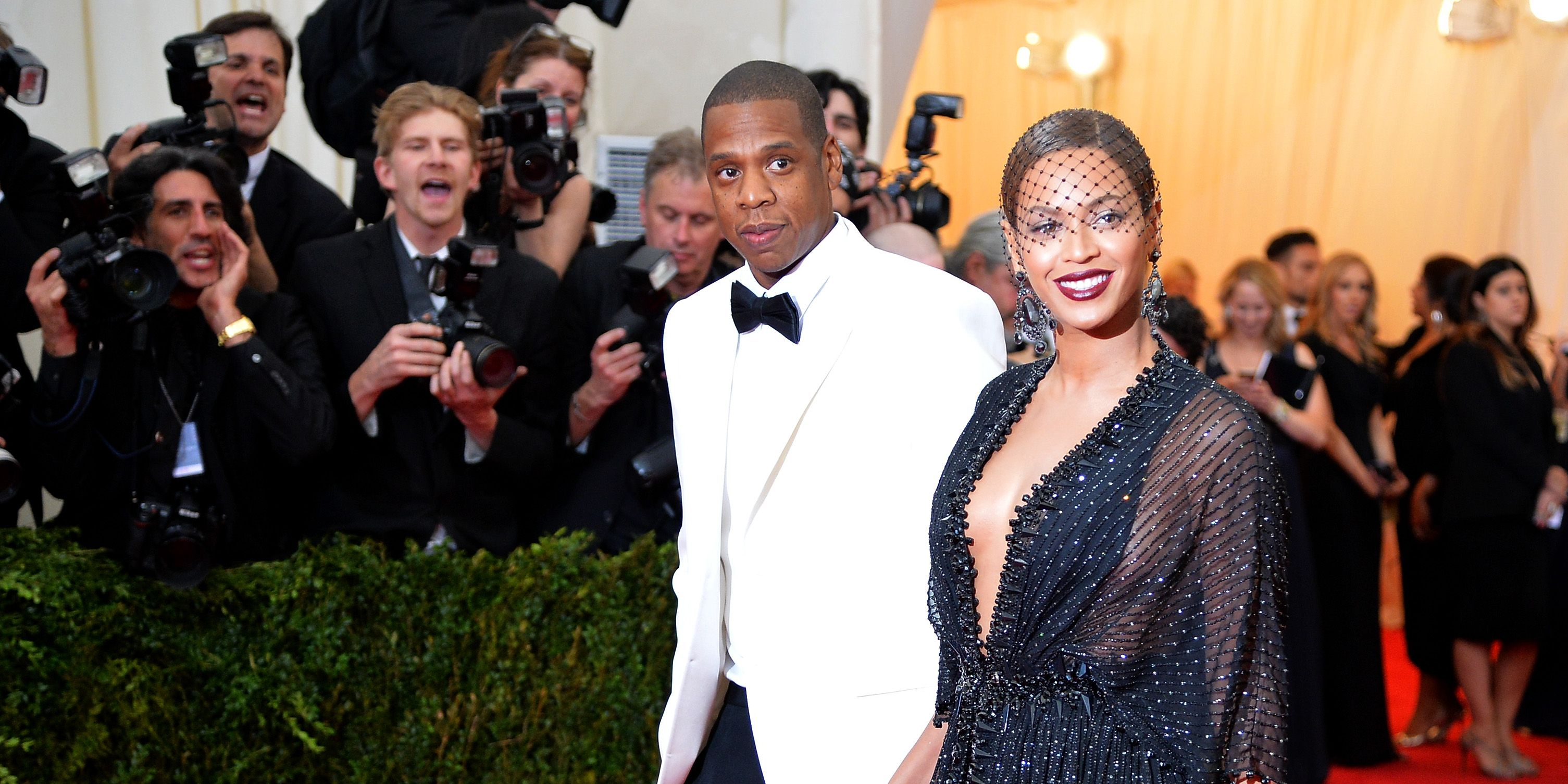Jay Z and Beyonce attend the 'Charles James: Beyond Fashion' Costume Institute Gala at the Metropolitan Museum of Art on May 5, 2014 in New York City.