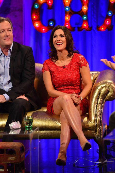 Susanna Reid laughs off Piers Morgan's joke that he peeked